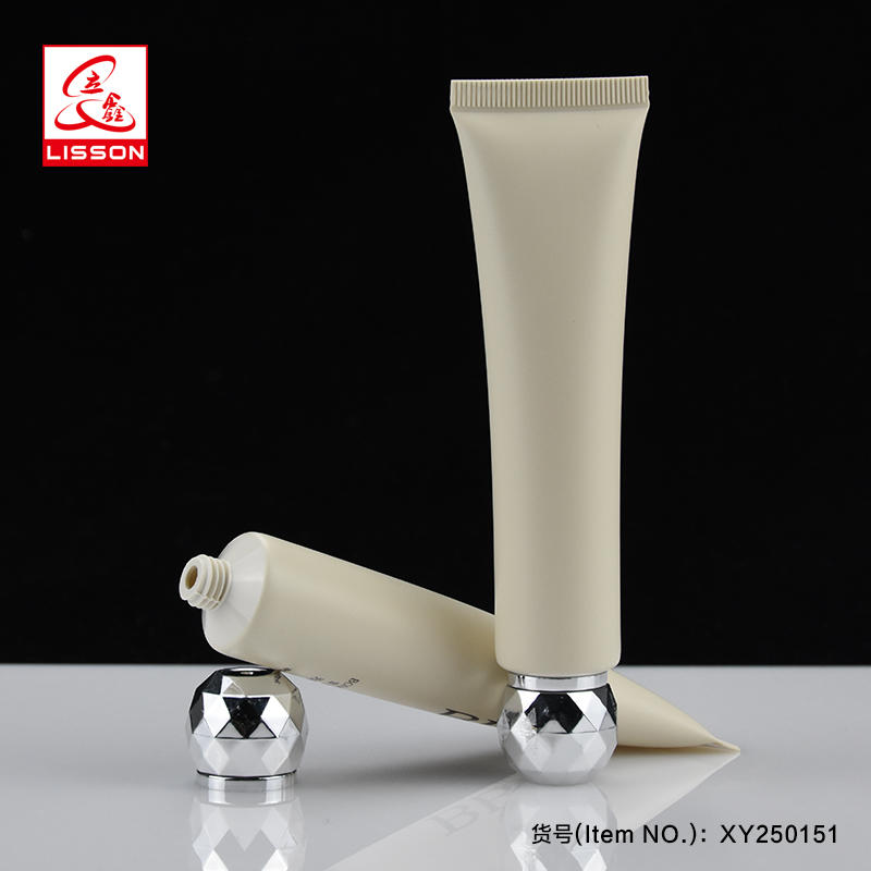 empty custom cosmetic plastic lotion tube packaging for cream with special screw cap