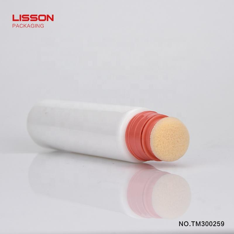new design cosmetic BB foundation cream tube,cosmetic packaging tube with sponge applicator