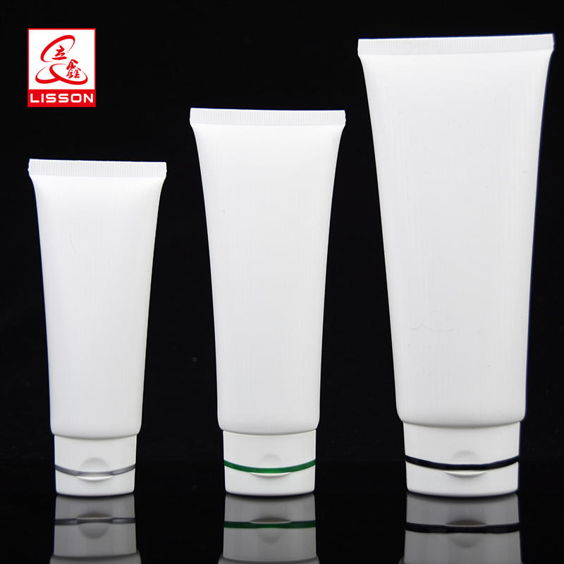 Hot Sell Cosmetic Packaging Tube With Special Flip Top Cap For Fancial Cleanser