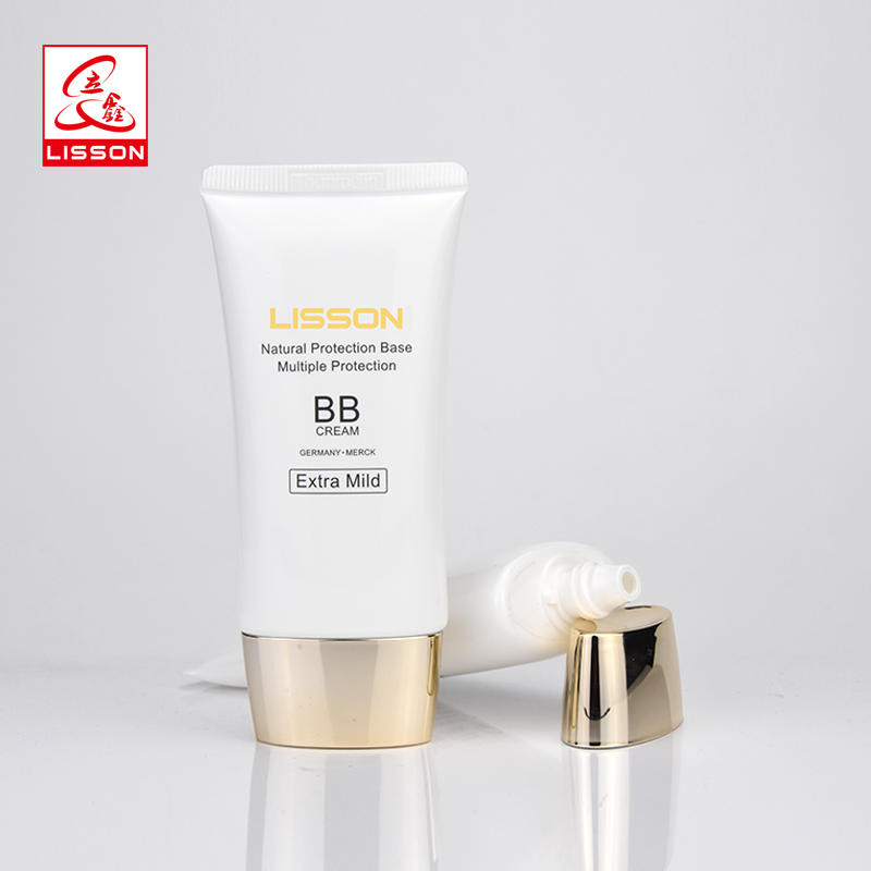 30g 40g 50g LDPE OEM Oval bb cc cream facial cream packaging with metallized cap