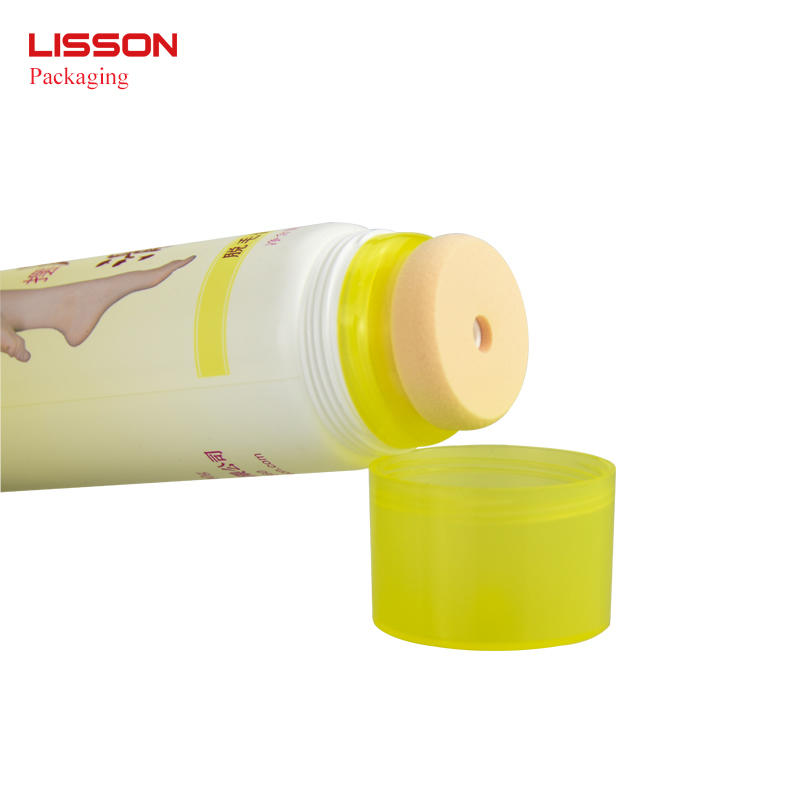 200ml Recyclable makeup packaging sponge tube for BB cream/CC crea/foundation