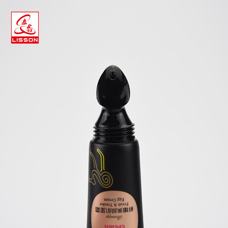 hot sell beauty make up BB Cream cosmetic packaging tube with black transparent cap for BB CC cream