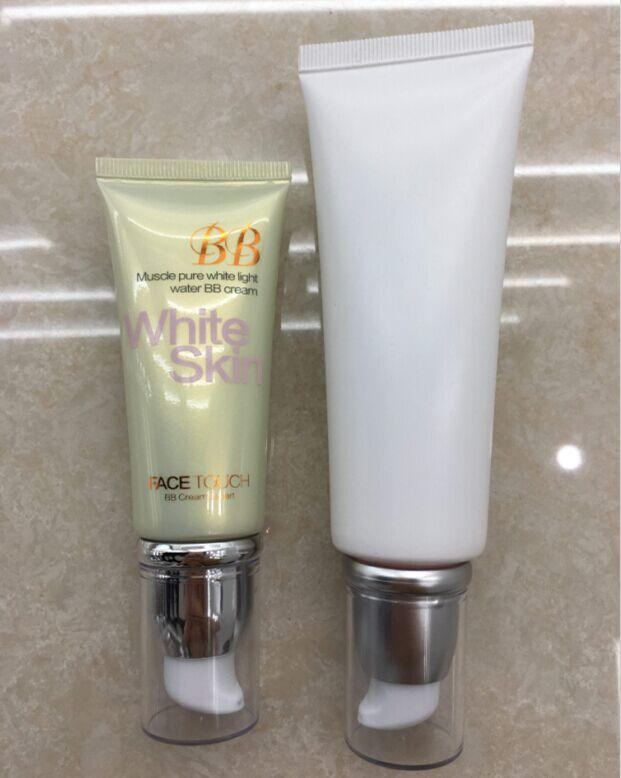empty custom Cosmetics BB cream airless Pump Tubes Packaging for face wash