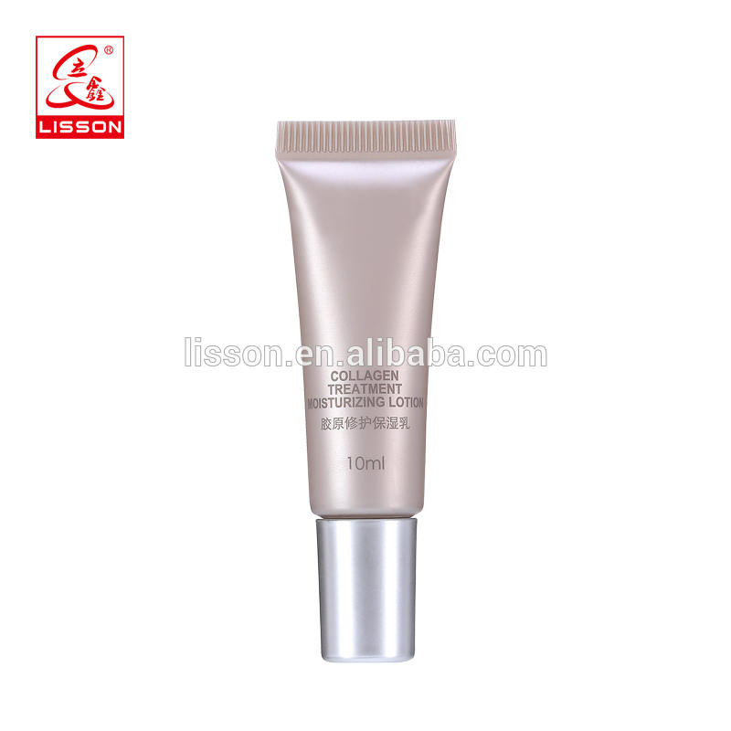 25g plastic face cream eco-friendly cosmetic tube packaging with special metalized screw cap wholesale