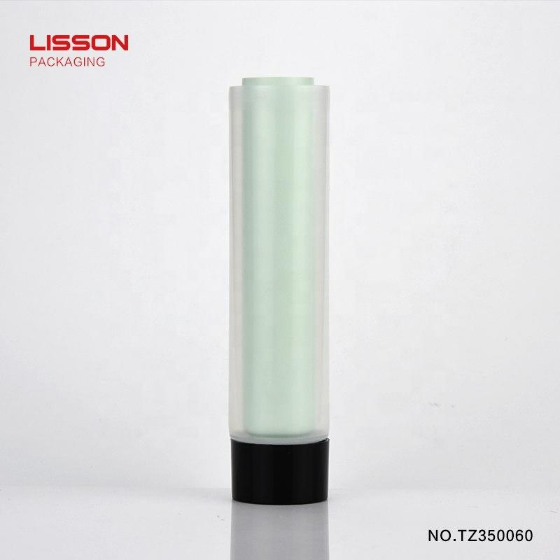 High quality Professional PE plastic tube Dual Chamber with screw on cap
