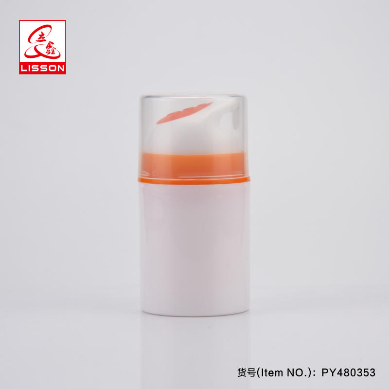 Lisson cosmetic packaging white airless pump bottle for lotion/cream