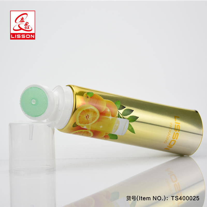 80ml 100ml 120ml 150ml Facial Cleanser Silica Gel Brush Container , Soft Brush Function Cosmetic Tube Packaging