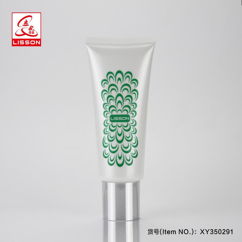 50ml 80ml 100ml Empty White Sun Care Cream Cosmetic Plastic Soft Tube With screw Cap