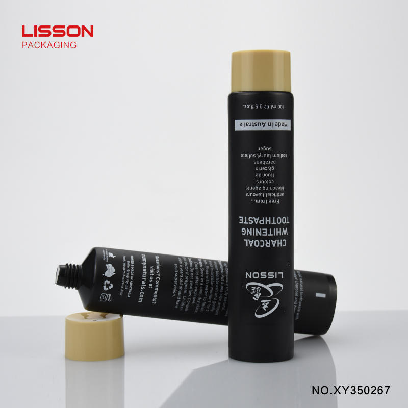 100ml HDPE black squeeze tube with screw cap