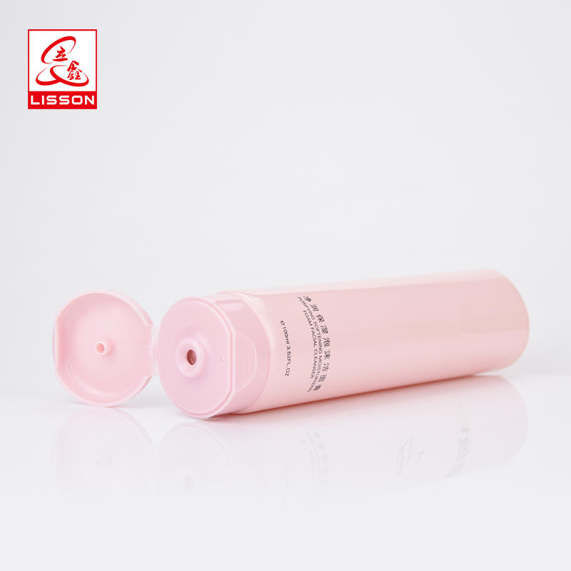Beauty Color Pink Kitty Cosmetic Tube Packaging With Flip-top Cap