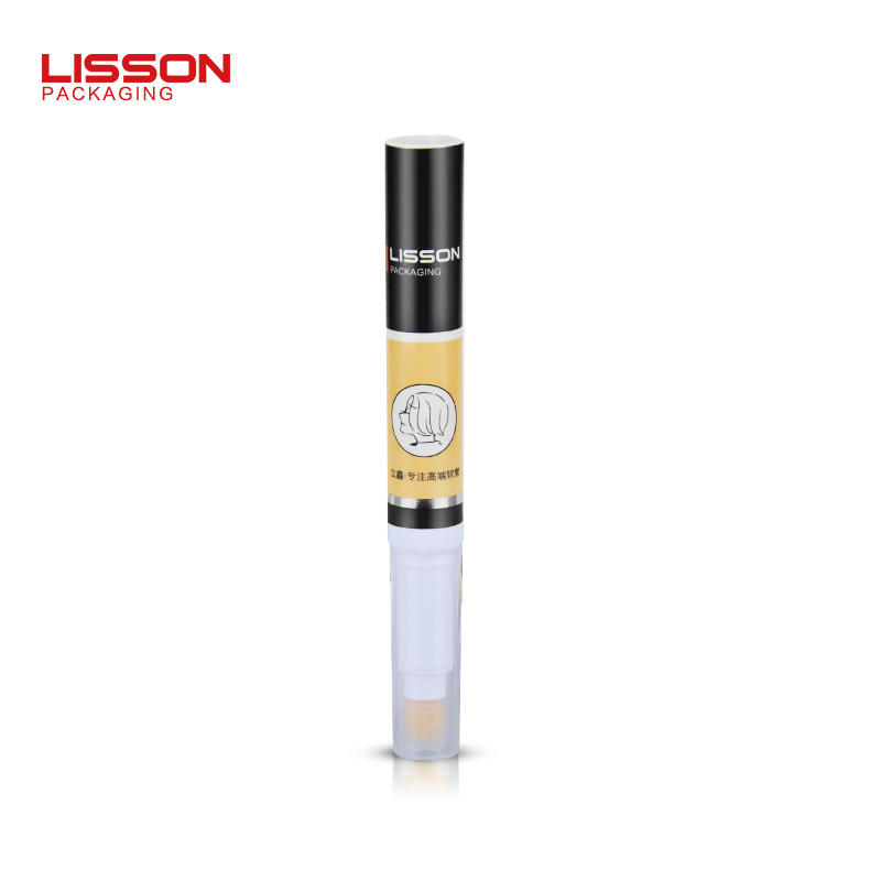 10ml empty cosmetic makeup packaging tube with flocking applicator and rotary switch