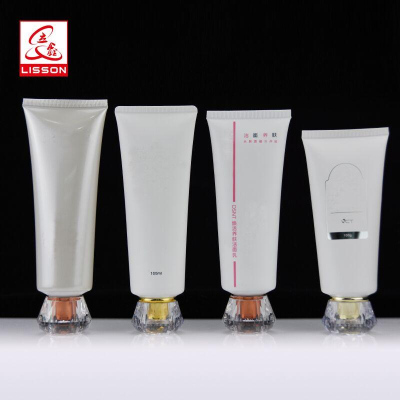 100 ml facial cleanser packaging tubes with acrylic cap