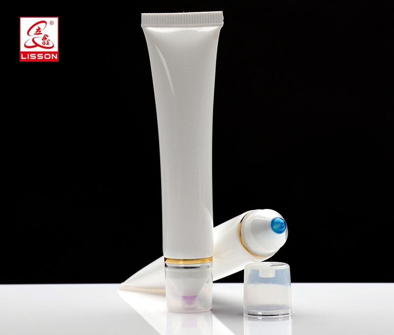 eye cream soft tube with transparent applicator