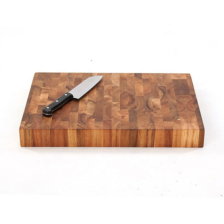 Hot sale acacia oak bamboo wooden cutting board with scale chopping board