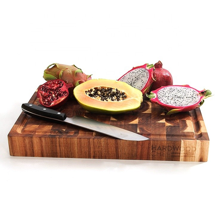 Hot sale custom multi-function chopping board wood heat resistant cutting board for kitchen