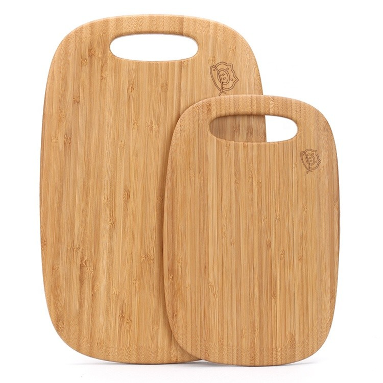small organic bamboo cheese vegetables cutting board trays 2 piece set for kitchen