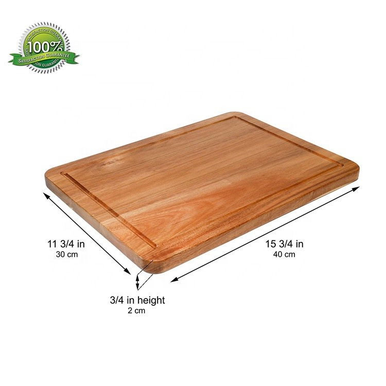 Factory directly sale cheese chopping board with weight teak cutting board