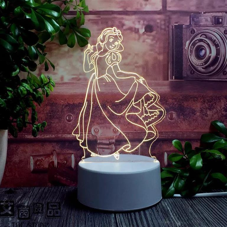 Creative Acrylic Multi-color changing custom Led Night Light Table Lamp For Kids Children Gifts Bedroom 3d Illusion