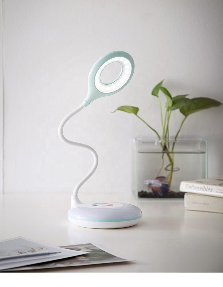 creative LED colorful atmosphere cartoon tablereading lamp night lightUSB battery Touch sensor with 3 gear touch