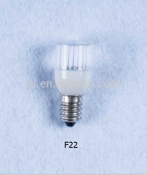 110v 240v indoor decorative mini color LED Bulb light F22