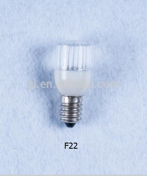 110v 240v indoor decorative mini color LED Bulb light F22