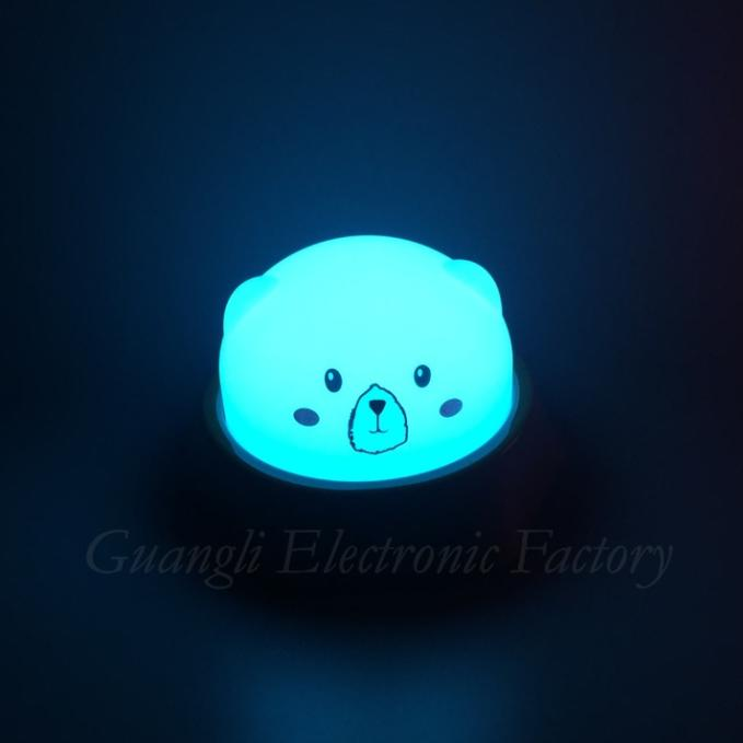LED colorful atmosphere cartoon USB battery Simplified Touch sensor reading table lamp for desk with 3 gear touch