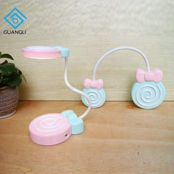 Lollipop cute shape USB battery Simplified Touch sensor reading LED table lamp for desk