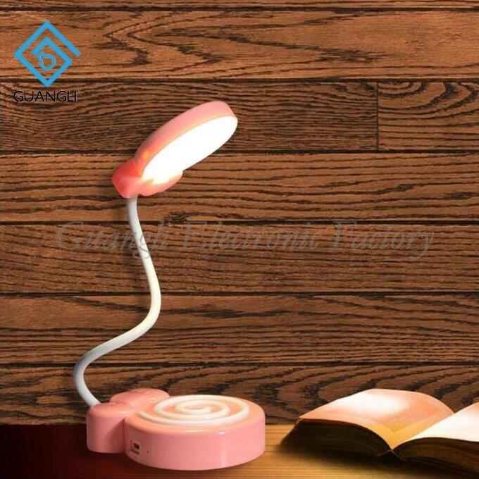 Lollipop shape USB battery Simplified Touch sensor reading LED table lamp for desk