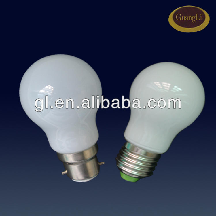 CE certificate 110v/220v e27/b22 colorful plastic led bulb 0.5w housing led bulb