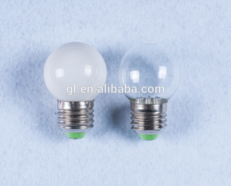 E27 B22 110V or 240v indoor led light bulb lamp type G40 7 LED