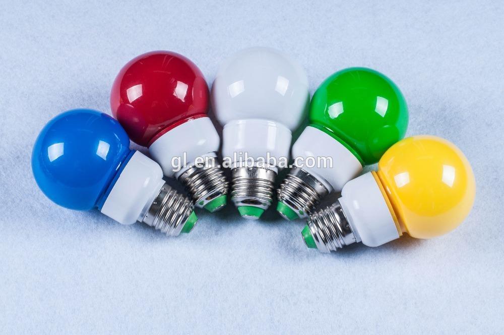 Colorful LED color light Bulb G60 E27 B22