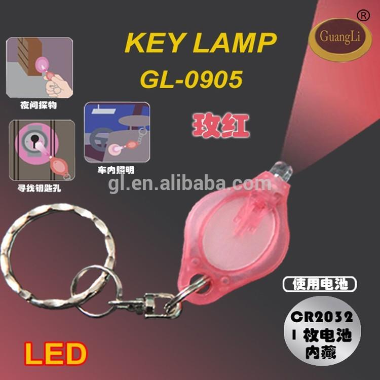 cheap items easy using battery nigh lamp bullet led light keychain