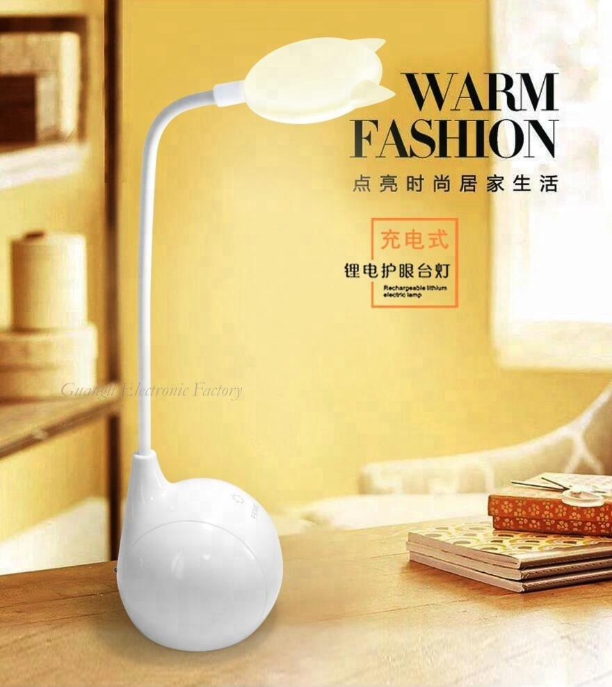 Touch sensor reading LED table lamp for desk
