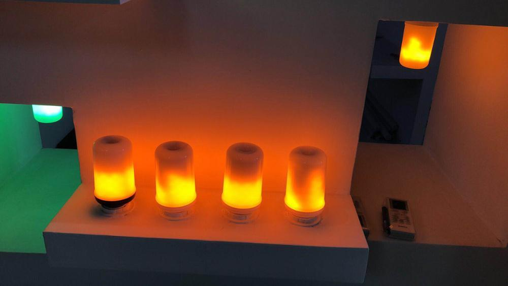 Wholesale 3 modes LED Flame Effect Fire Light Bulb E27 Flickering Flame Lamp Simulated Decorative christmas led light