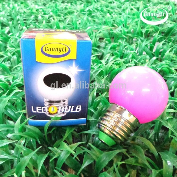Popular night light decoration in door e27 b22 1w color led bulb housing G45 P4 5SMD many colors for your choice