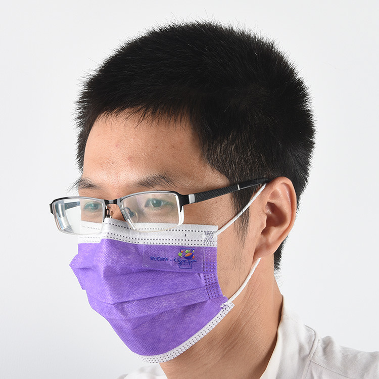 Factory Directly Customized Colorful Filter Protectivemask Disposable Facemasks 3-Ply Maskface Shield