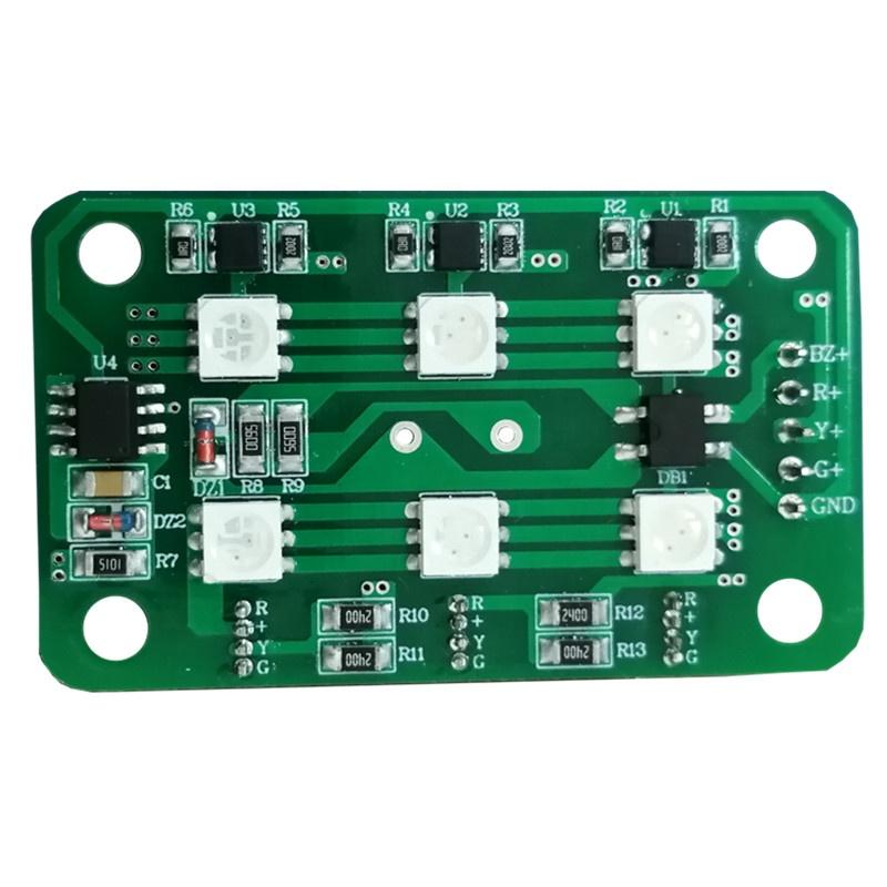 Low Voltage DC24V 1W CE RoHs certification dob driverless three colors RGY led module pcb pcba for workshop machine warninglight