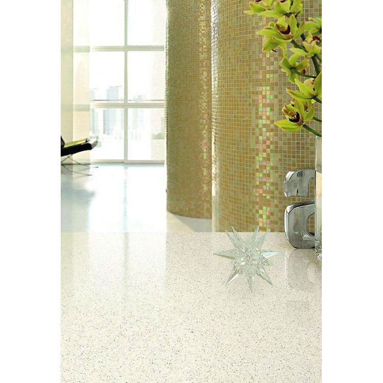 White artificial quartz tiles quarts slab