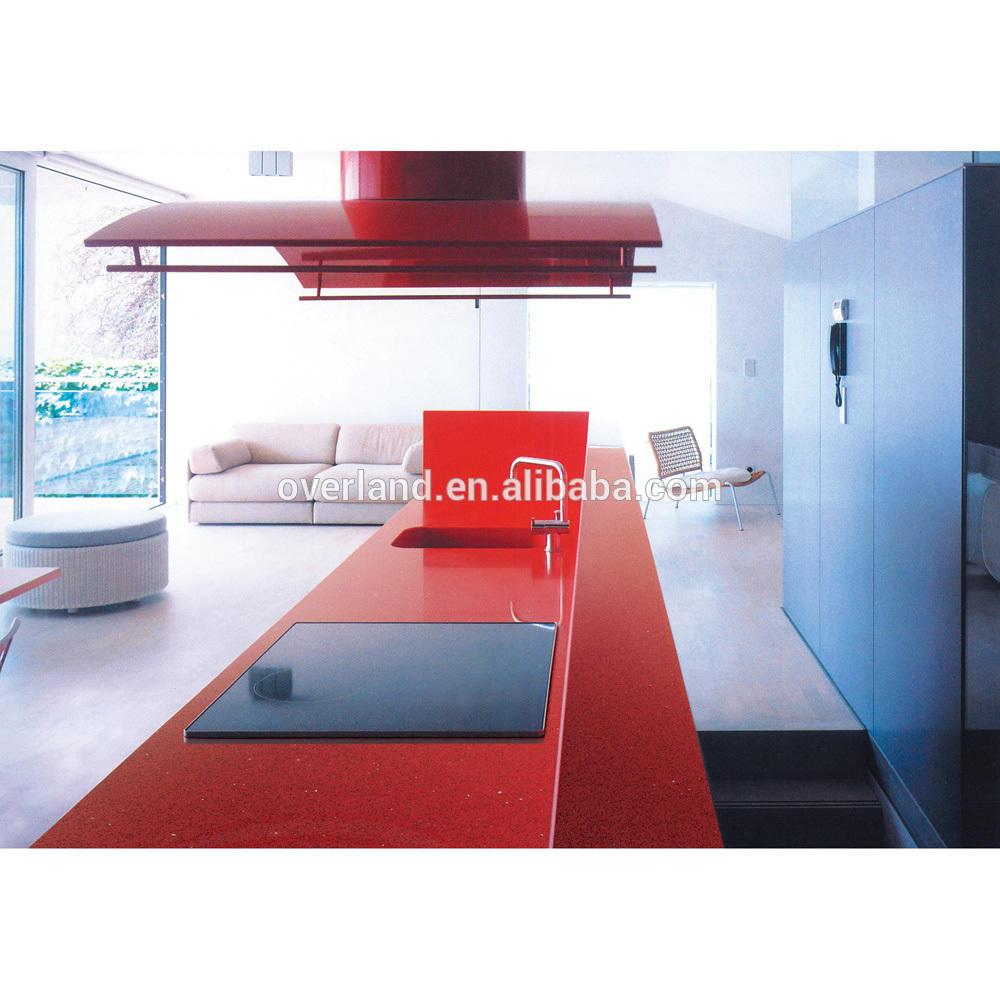 Sparkle red quartz stone countertop