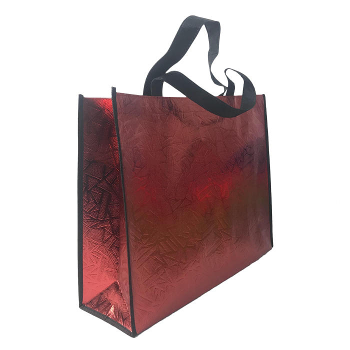 100%PP nonwoven fabric bag Box shape with loop handle with laminated reusable shopping bag