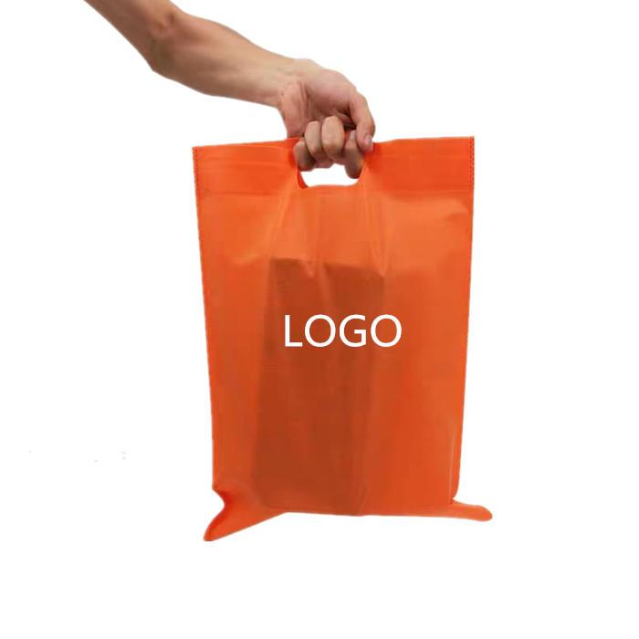 PP nonwoven fabric reusable Non woven flat D-Cut bag for shopping