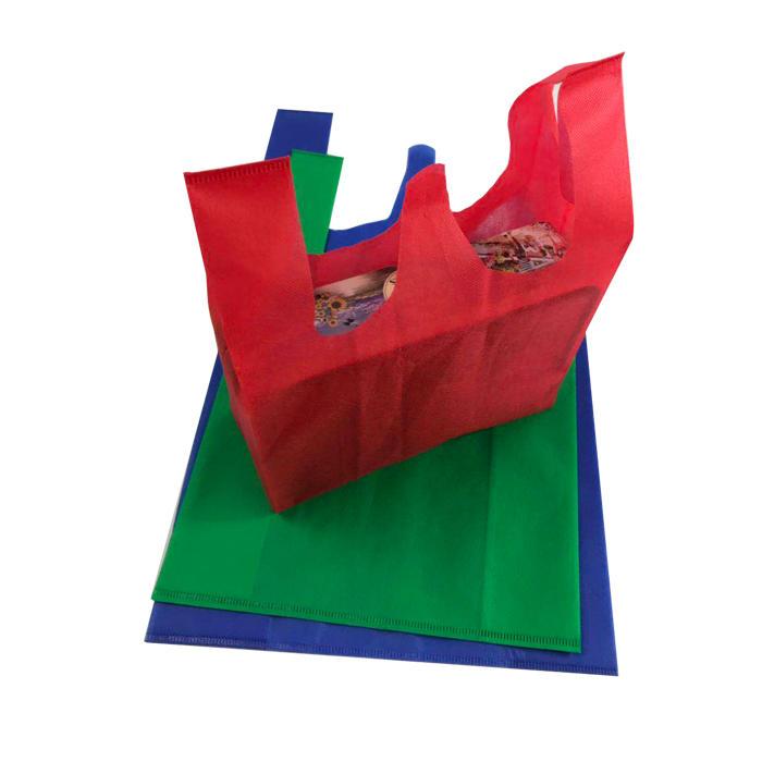 hot sale 100% PP spunbond non woven fabric T-shirt bag
