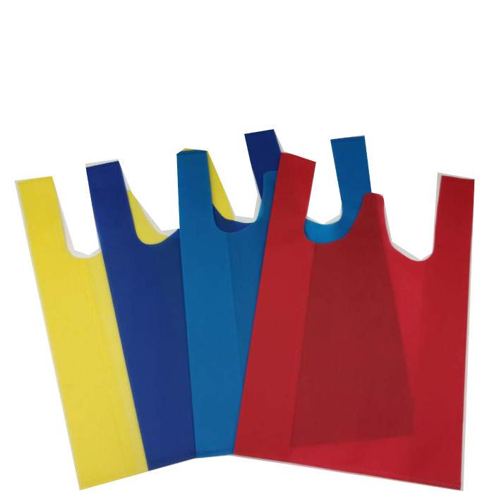 2020 new fashion nonwoven shopping bag 100% pp non woven bag eco W-cut bag