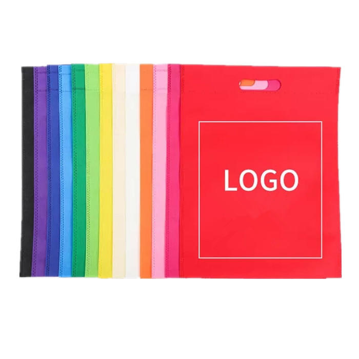 factory supply cheapDie Cut Shopping bags PP Non Woven fabric Eco-friendly nonwoven bags