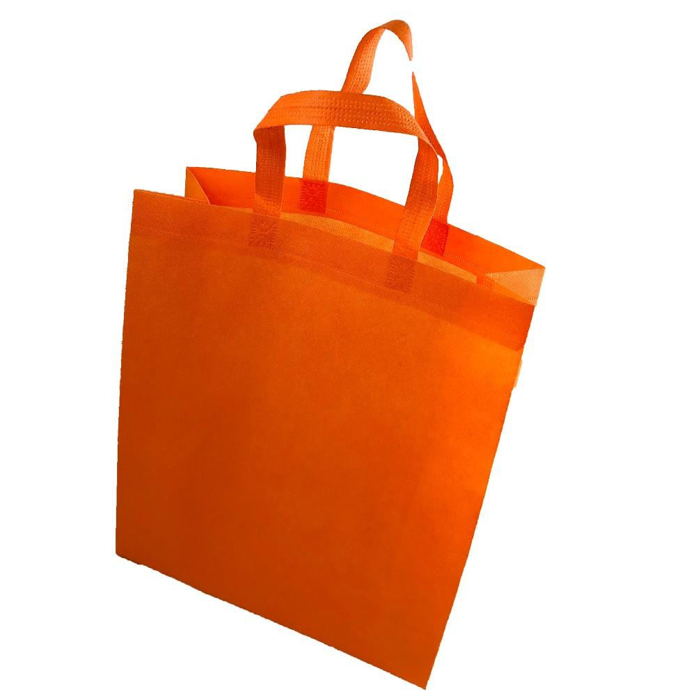 2019 Hot Selling Pure Color Shopping Bag Non woven Tote Bag With Your Logo For Company Supermarket