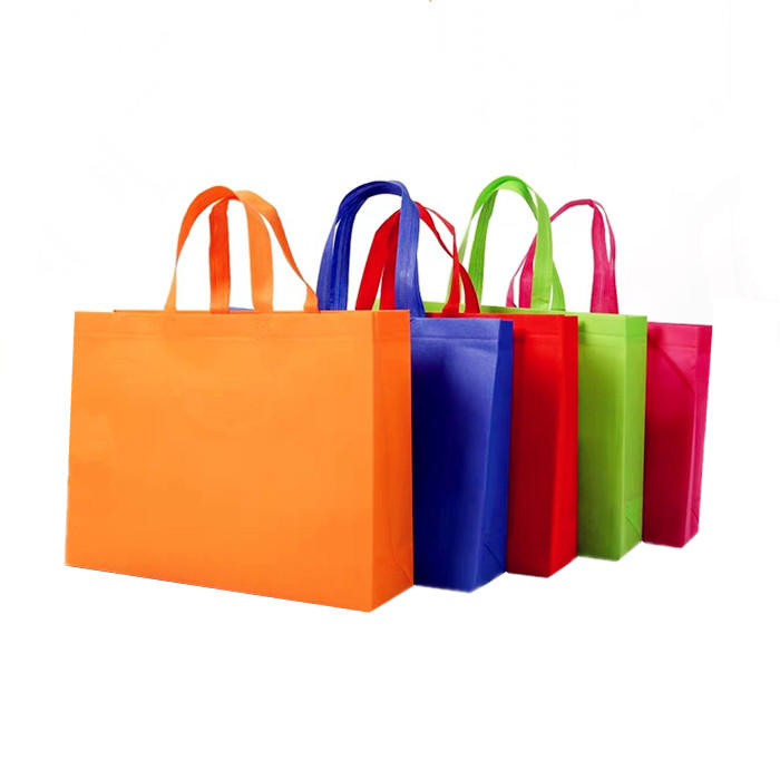 Hot Selling Colorful Shopping Bag 70 Gsm Non woven Tote Handled Bag