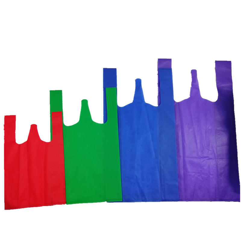 colour 100%pp eco-friendly shopping laminated non woven vest bag