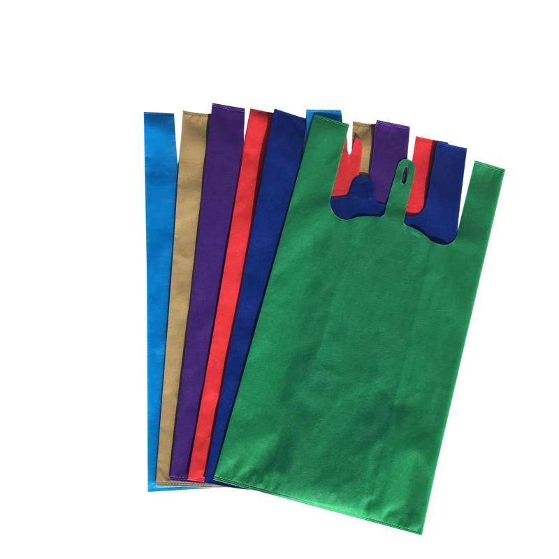 Logo Print Eco Vest Handle T-Shirt Nonwoven Bag , Biodegradable Shopping Pp Nonwoven T Shirt Bag