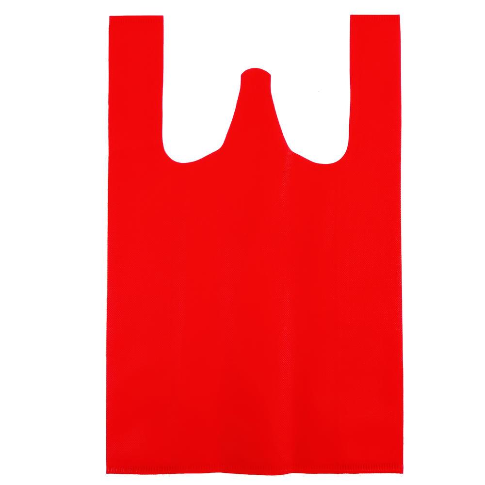 Eco-friendly Vest Bag PP Nonoven Fabric Material W-cut Bag Shopping Bags