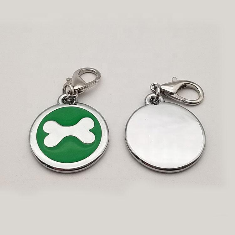 2020 bulkin stock sublimation engravedname customized blank pet dog id tags pendant for dogs